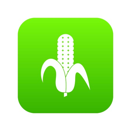 Corncob icon digital green Illustration