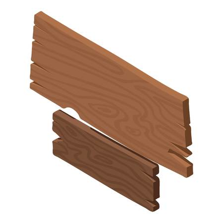 Wooden wall icon. Isometric illustration of wooden wall vector icon for web Illustration