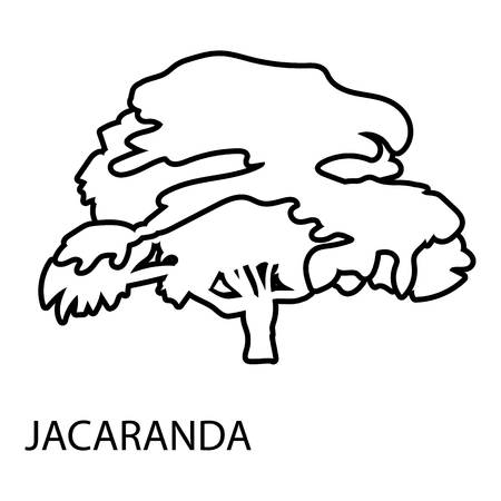 Jacaranda icon. Outline illustration of jacaranda vector icon for web