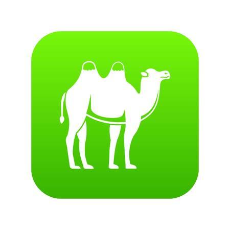 Camel icon digital green Illustration