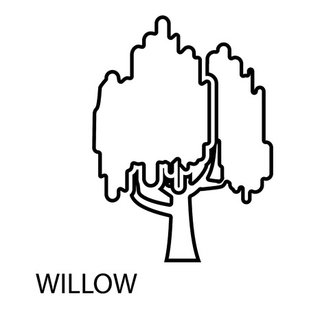 Willow icon, outline style