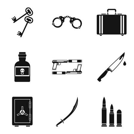 Importunity icons set, simple style