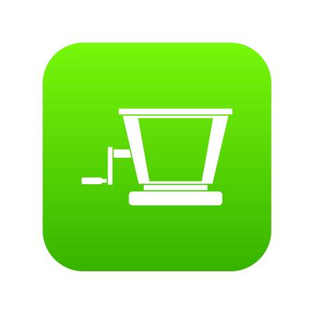 Old grape juicer icon digital green