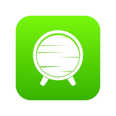 Barrel on legs icon digital green Illustration