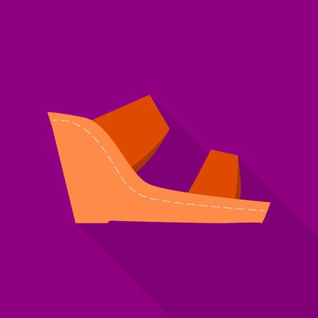 Footwear icon, flat style