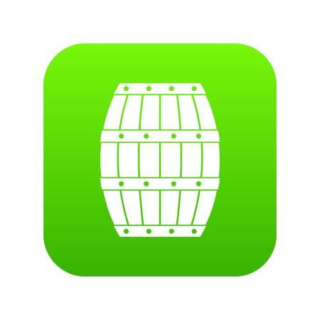Barrel icon digital green isolated illustration on white background Illustration