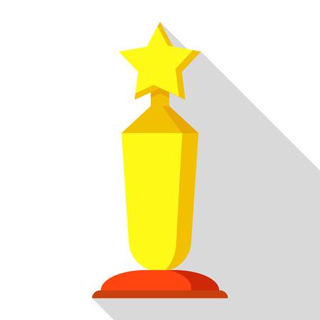 Award ceremony icon. Flat illustration of award ceremony vector icon for web