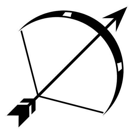 Pixy bow icon, simple style.