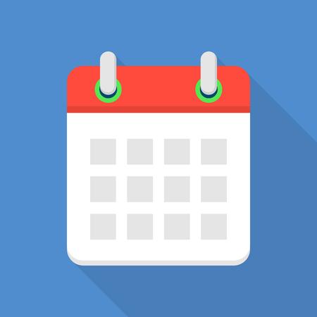 Mobile calendar icon, flat style Illustration
