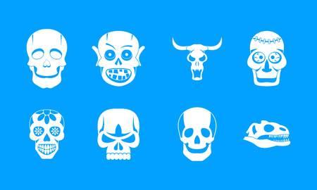 Skull icon set vector Illustration