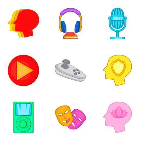 Online play icons set