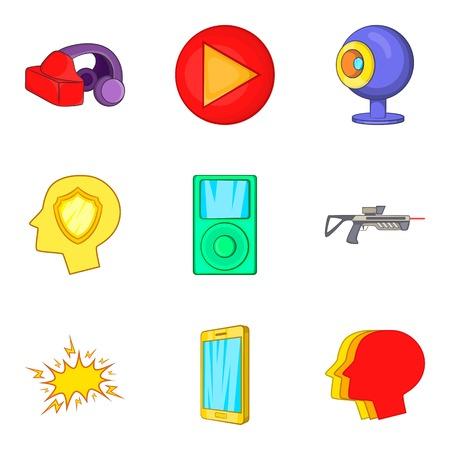 Playful icons set Illustration