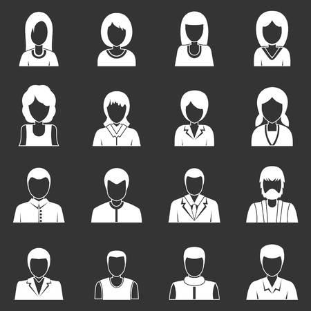 Avatar design icons set Illustration
