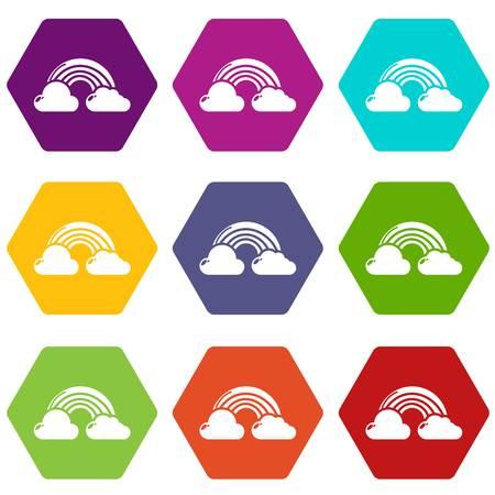 Rainbow icons set