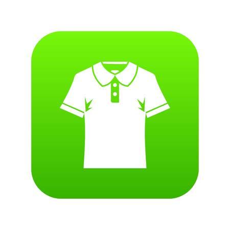 Men polo shirt icon digital green