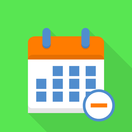 Message calendar icon, flat style