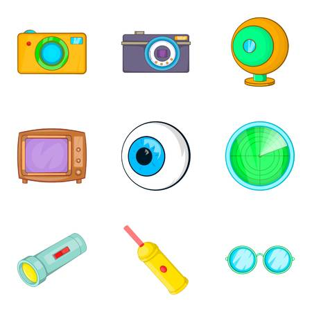 Cartoon set of eyesight icons for web isolated on white background illustration. Ilustrace