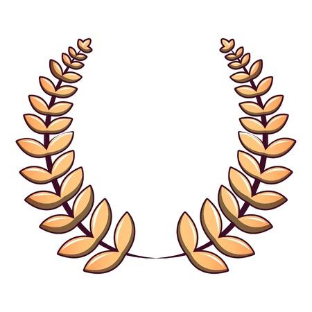 Cartoon illustration of anniversary wreath vector icon for web.