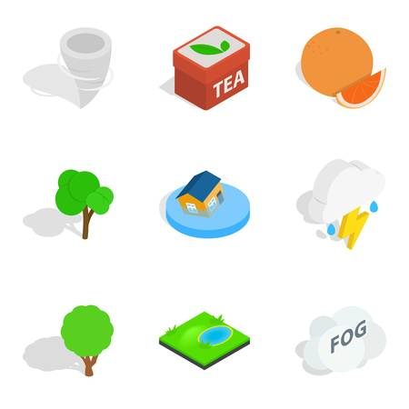 Fix vital icons set, isometric style