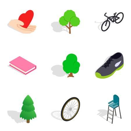Vivacity icons set, isometric style