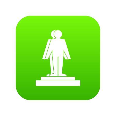 3d model of a man icon digital green Vettoriali