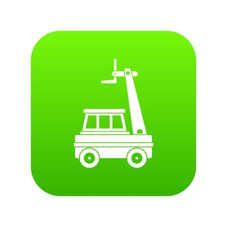 Cherry picker icon digital green Ilustracja