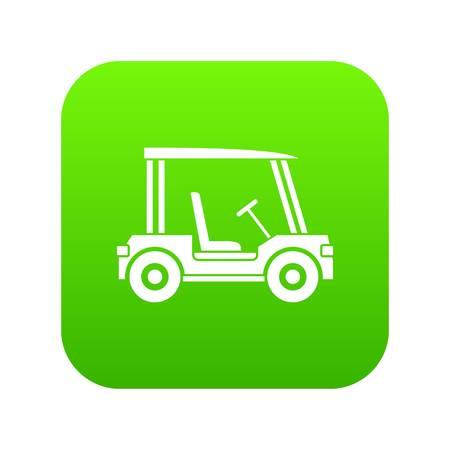 Golf club vehicle icon digital green Ilustração