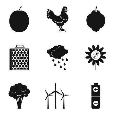 Fortified icons set. Simple set of 9 fortified vector icons for web isolated on white background Illustration
