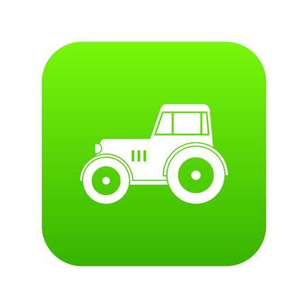 Tractor icon digital green Stock Illustratie