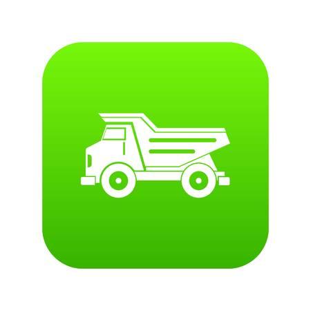 Dump truck icon digital green Vettoriali