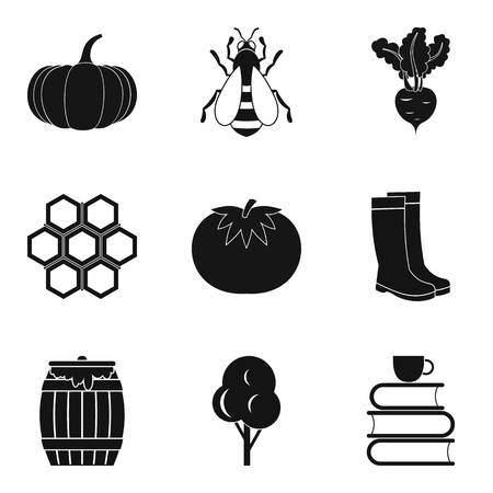 Vitamin problem icons set. Simple set of 9 vitamin problem vector icons for web isolated on white background Stock Illustratie