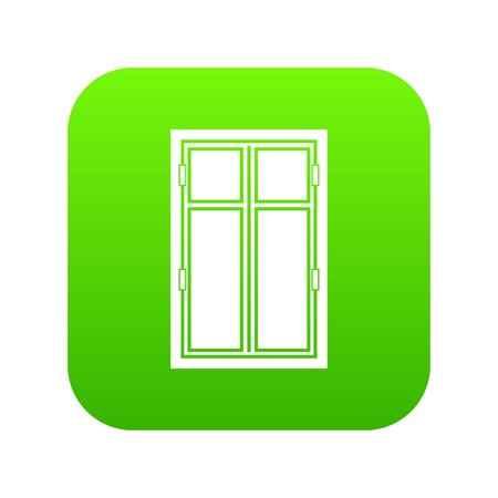 Wooden window icon digital green