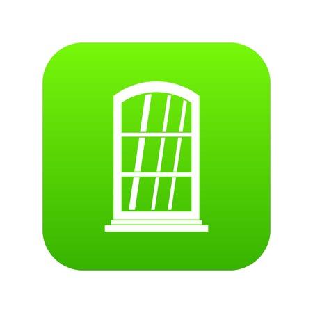 White narrow window icon digital green