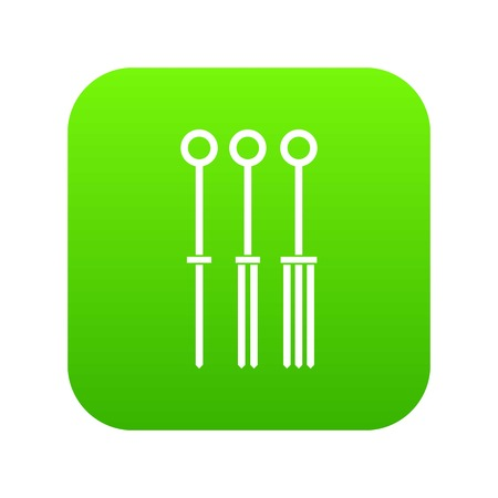 Tattoo needles icon digital green for any design isolated on white vector illustration 向量圖像