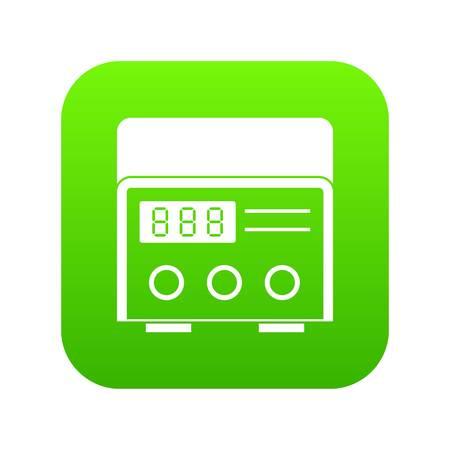 Professional tattoo machine icon digital green