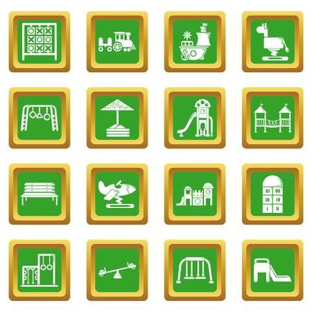 Playground equipment icons illustration