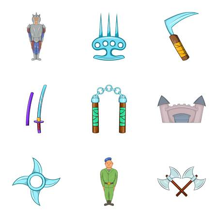 War icons set illustration