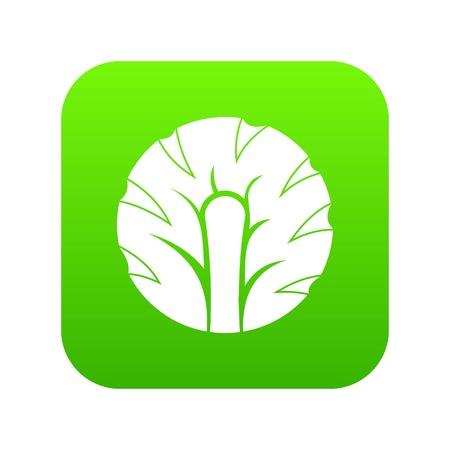 Fresh slice of broccoli icon illustration