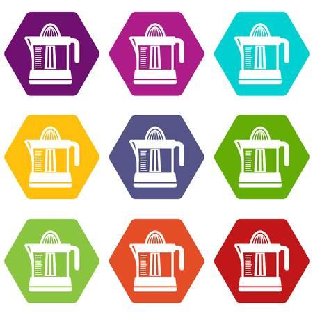 Juicer icons set illustration Illustration
