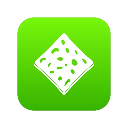 Tofu fresh block icon illustration Vettoriali