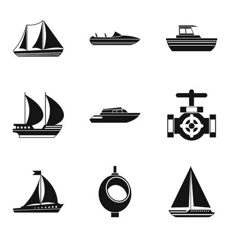 River basin icons set. Simple set of 9 river basin vector icons for web isolated on white background