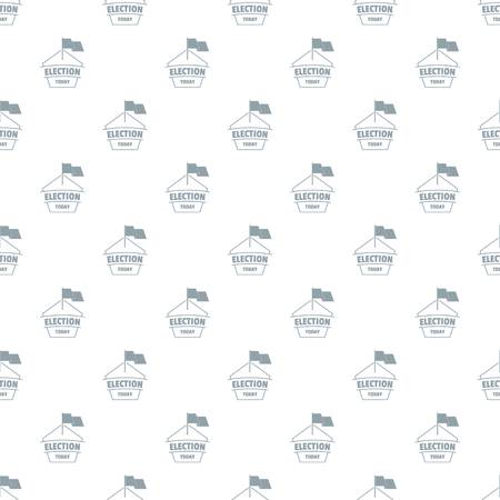 Election today pattern vector seamless repeat for any web design