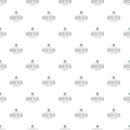 Pizza delivery pattern vector seamless repeat for any web design