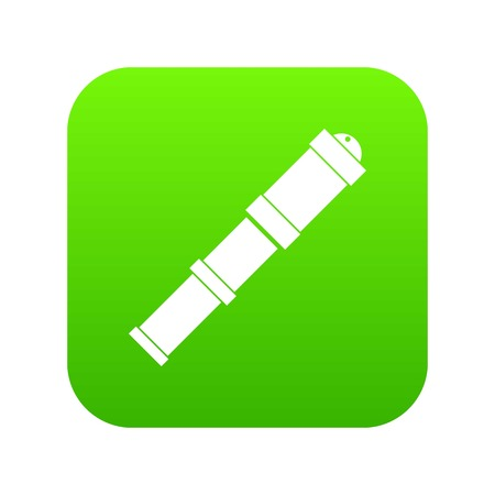 Antique telescope icon digital green for any design isolated on white vector illustration