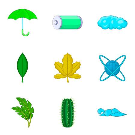 Water energy icons set