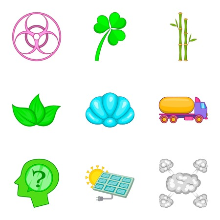 Water power icons set