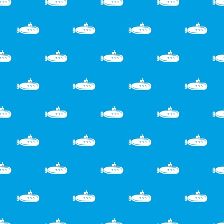 Long submarine pattern vector seamless blue repeat for any use