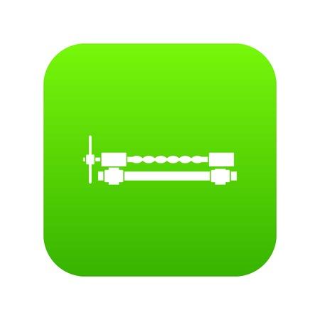 Blacksmiths clamp icon digital green for any design isolated on white vector illustration Vettoriali