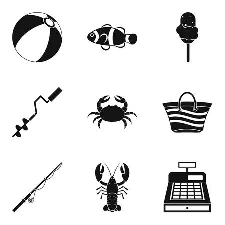Water treatment icons set. Simple set of 9 water treatment vector icons for web isolated on white background