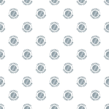 Cricket sport pattern vector seamless repeat for any web design